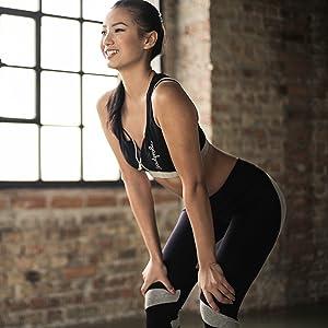 Cotton lycra fabric active wear leggings top