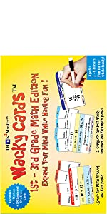 1st 2nd 3rd Grade Addition Subtraction Multiplication Wacky Cards