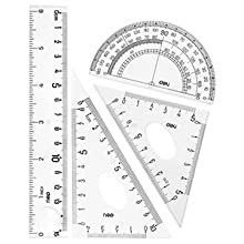 "Ruler (6""), Set Square (30°/60°), Set Square (45°), Protractor"