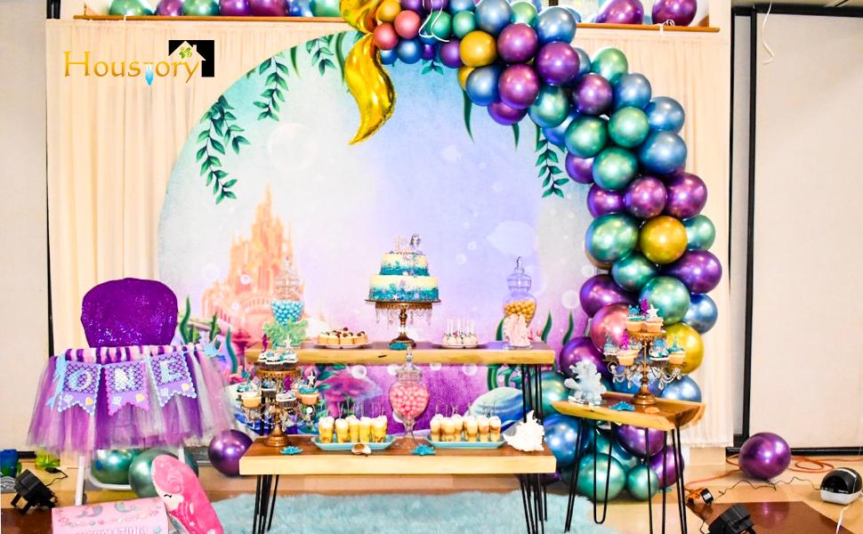 metallic balloons little mermaid balloons