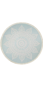 Pauwer 4 Ft Round Area Rug