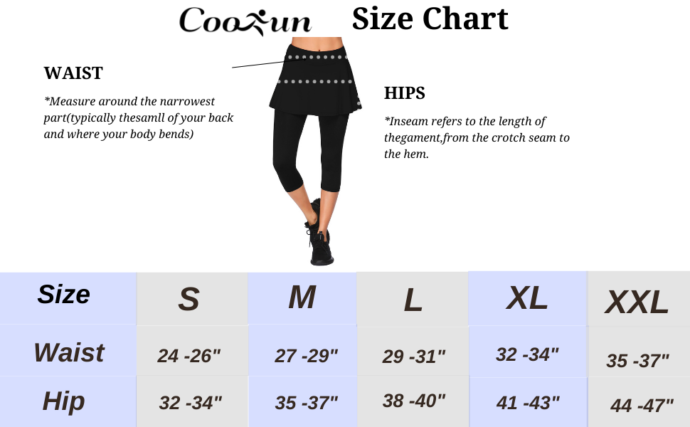 COOrun Legging Skirts