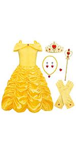 B07KHWQFNY yellow princess costume outfits
