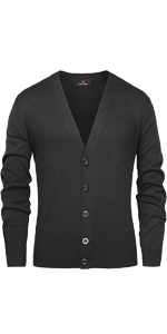 mens casual v neck button down cardigan sweter solid color plain sweaters cardigan long sleeve men