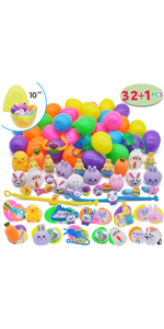 32 Pcs Prefilled Easter Eggs with Toys