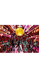 70s 80s 90s Disco Fever Prom Party  Photography Backdrop Let's Glow Crazy