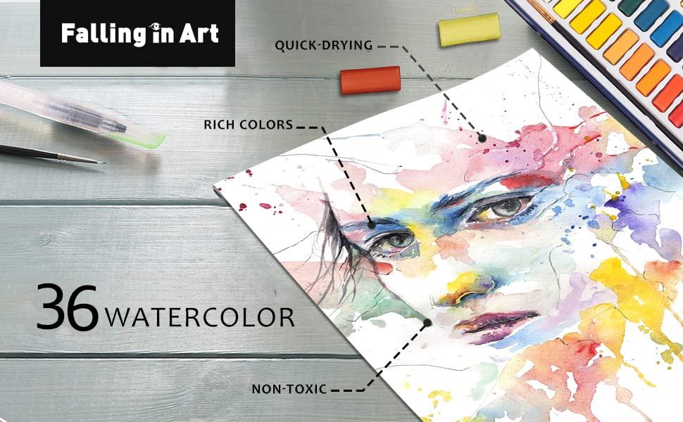 36 watercolor pan