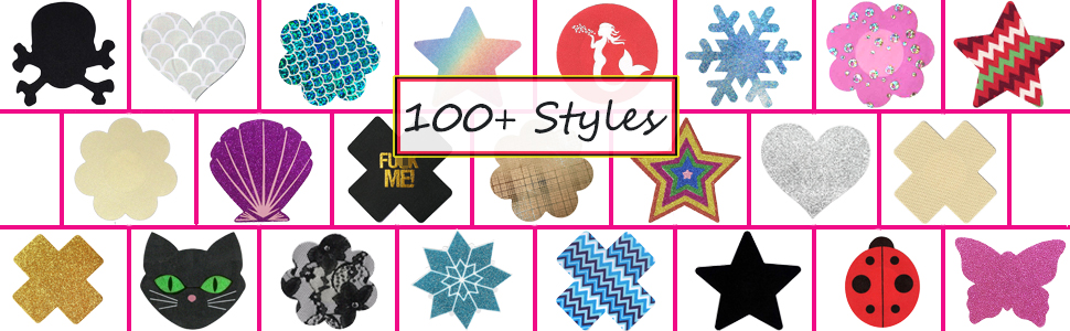 more than 100 styles