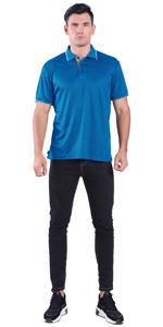 blue mens polo shirts