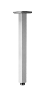 12 Inch Square Ceiling Mounted Shower Arm and Flange, nickel