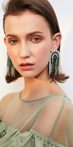 Sparkly Rhinestone Tassel Drop Earrings Women Cocktail Party Accessories