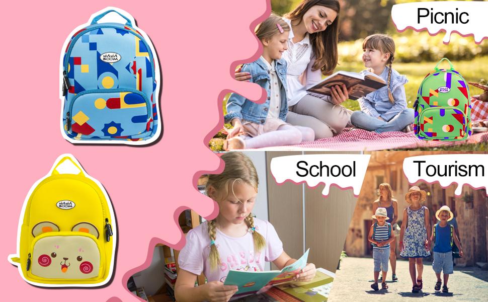 Kids Bag, PP Picador Children Shoulder Bag Waterproof Cute Backpack for Kids, Boys, Girls, Toddlers