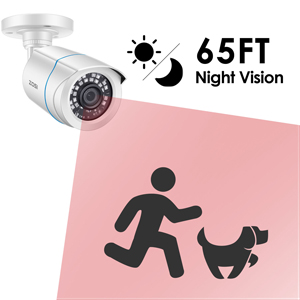 65FT Night Vision for All-night Security Coverage