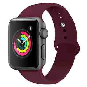 apple watch band 38mm burgundy