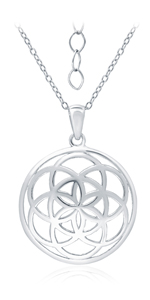Circle Filigree Pendant Necklace