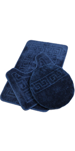 Pauwer Bath Rug Sets 3 Piece
