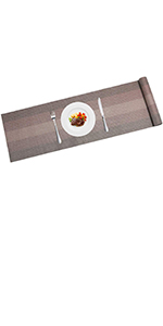 PVC plastic table runner wipe clean non slip decorate your table