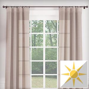 semi-sheer textured crosshatch curtains
