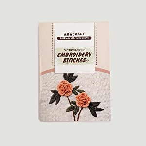 Akacraft DIY Embroidery Starter Kit Cotton Fibric Stamped Pattern 6 Plastic Hoop Color Thread Needle