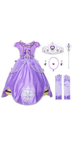 Purple Girls Princess Costume