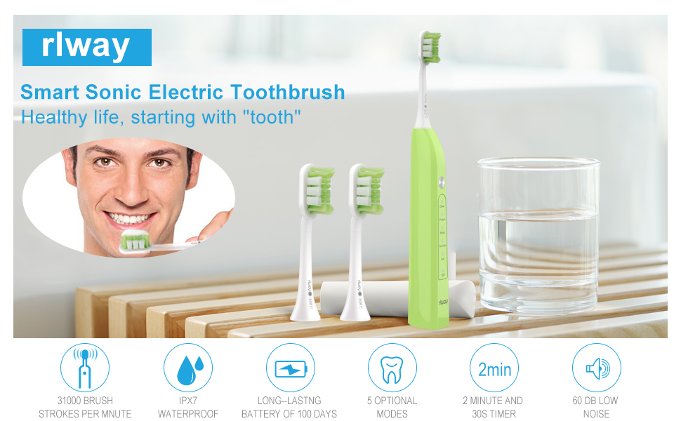 Intelligent Ultrasonic Electric Toothbrush U-Type Toothbrush Head For Adults