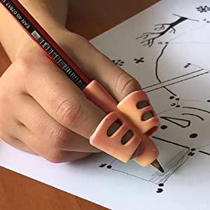 Training Children Pencil  Holder Pen Posture Correction Tool Writing Trainer Finger Grip for Kids