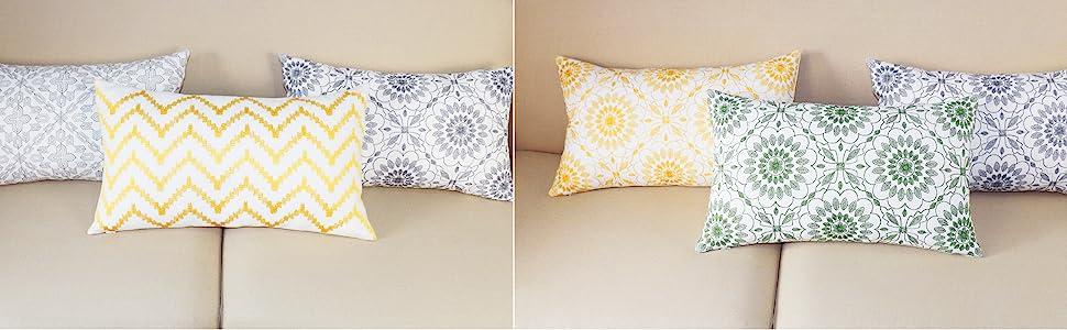 embroidery lumbar throw pillows
