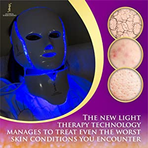 light therapy faithful formulations face facial mask acne spot treatment red blue whitening skin