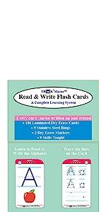Alphabet Sightwords Kindergarten Read Write Flash Cards