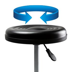 360° swivel rolling stool