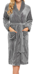 Womens Fleece Bathrobe