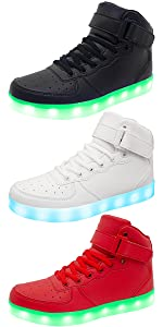 Girls Boys Light Up Sneakers