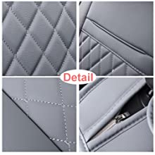 INCH EMPIRE gray car seat cover leather full set dirty-proof universal fit for truck sedan