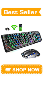 XM560 Wireless Mixed Backlit Keyboard and Mouse Combo