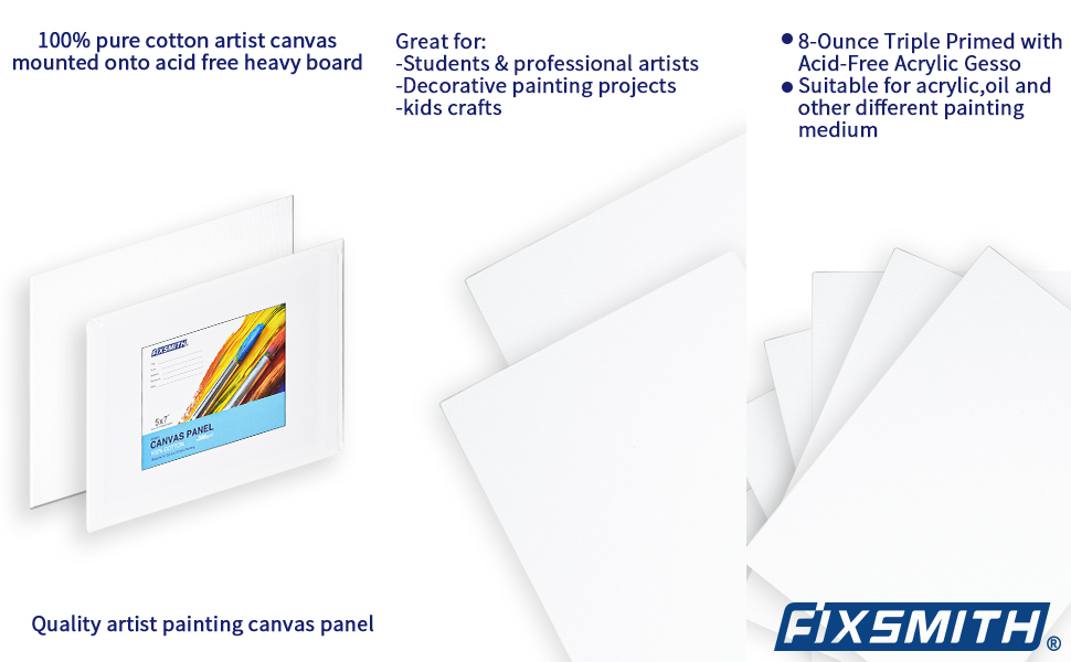 valued 24 pack canvases for painting 5x7 inch