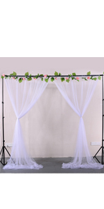 White Sheer Backdrop Curtains for Parties Baby Shower Wedding Birthday Decorations