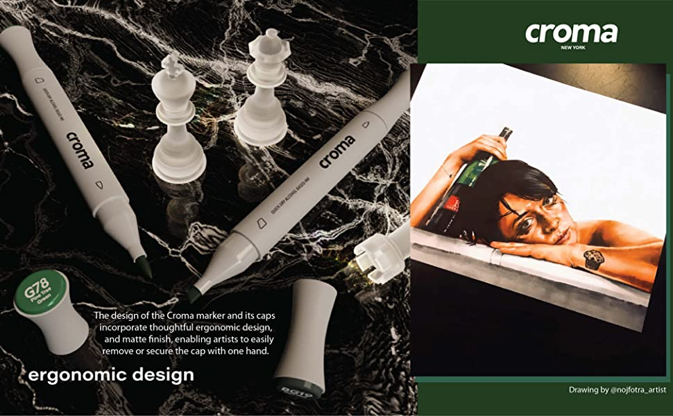 flagship series brush & chisel dual tip markers with alcohol based ink