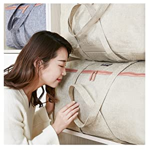 linen cottom storage bags for blanket under bed storage bags