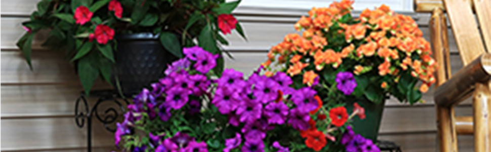Outdoor indoor patio porch living room plant stand set black