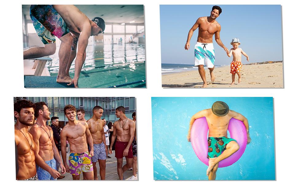 men's swim shorts for beach, summer, water sport
