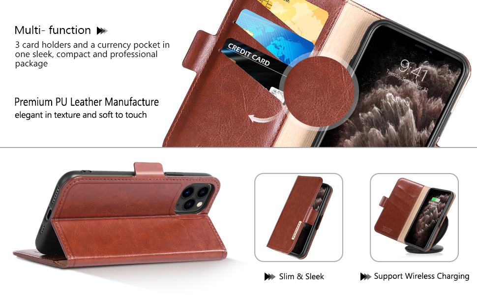 BENTOBEN iPhone 11 Pro Wallet Case