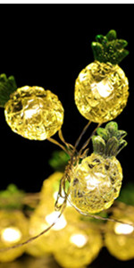 cute pineapple string lights
