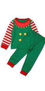 Kids Elf Pajama set