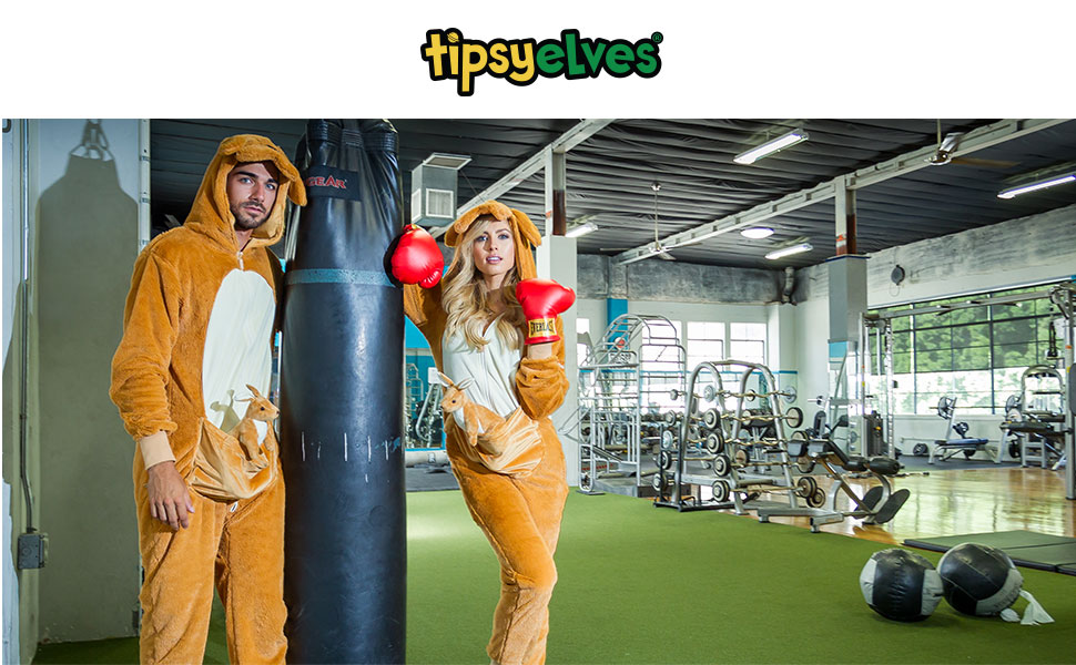 men's women's kangaroo jumpsuit kangaroo halloween costume onesie