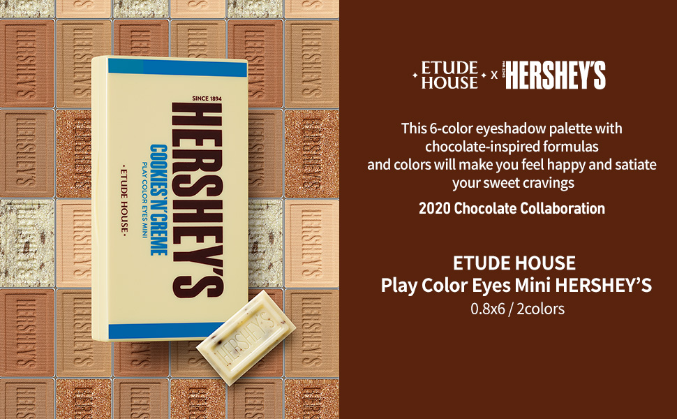 ETUDE HOUSE  Play Color Eyes Mini HERSHEY'S  0.8x6 / 2colors