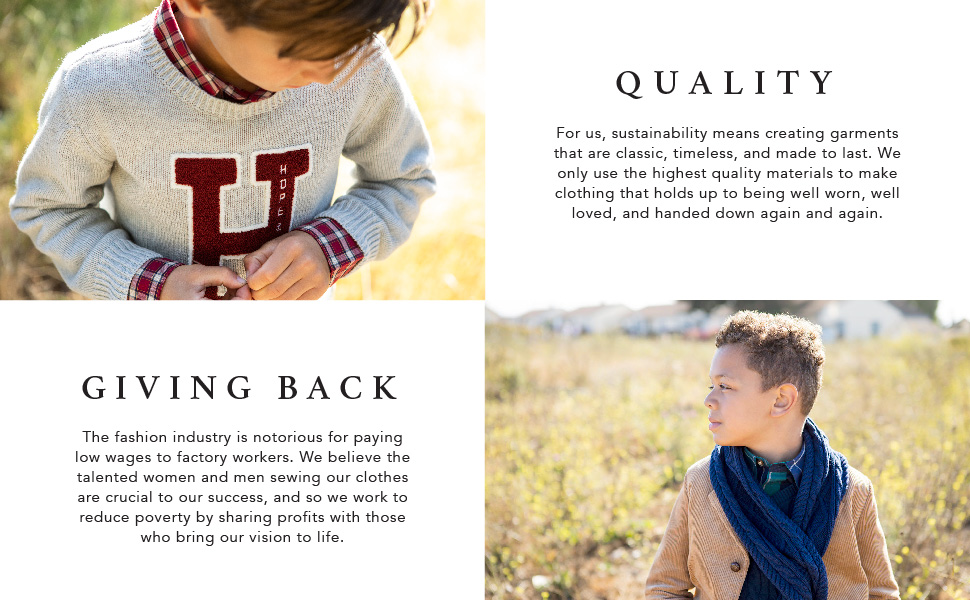 hope Henry organic cotton little young baby kids fashion style classic boy sweater pullover