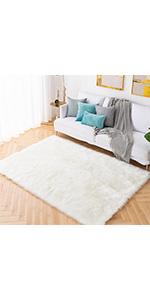 faux fur area rug