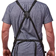 Hudson Black Cotton Apron with adjustable straps