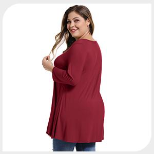 plus size tunics