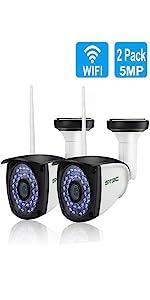 2 Pack 5MP WiFi Camera